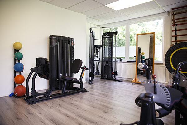 De fitnessapparaten bij fysiotherapie hillegom