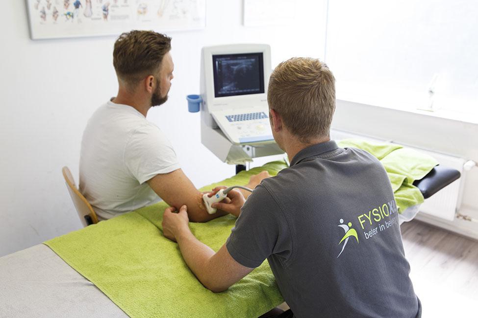 fysiotherapie behandeling met echografie